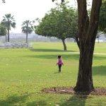 Children playing the Grass ground