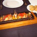 Telha de peixe com bacon