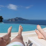 Infinity pool and view of Capri