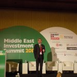 Well-arranged room at the Middle East Investment Summit, thanks to the Ritz Carlton DIFC team.