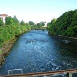 Riverside walk from the Weir Bridge