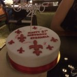 Chocolate fudge 21st birthday cake