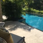 Our private pool access, from rooms.
