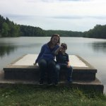 This is a pretty spot on the earthen dam that holds up the lake.