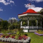 Music bandstand and gazebo at Halifax's Public Gardens