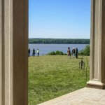 View of Potomac from porch of mansion.