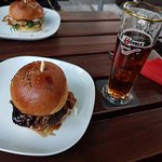 BBQ Burger & Chicken Burger & Beer