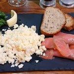 Smoked salmon and scrambled eggs mmmmmmmm!