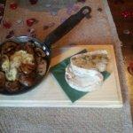 Mushrooms and Camembert