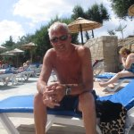 stan on the sunbed