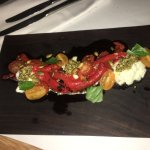 Roasted peppers & goats curd