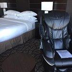 Massage chair in bedroom
