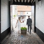 Just Married at The Crown (Photo courtesy of Tom Hampson)