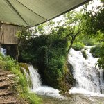 Beautiful location, perfect for a rest in nature. Sound of a waterfall will help you sleep.
