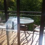 Tenía una terracita muy agradable que daba al parque que hay enfrente
