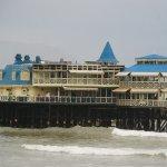Restaurante La Rosa Nautica vista desde la costa