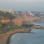 Comienzo del recorrido desde Miraflores por el Malecon hasta Chorrillos