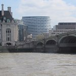 Looking back across the Thames River at the Park Plaza Westminster Bridge London