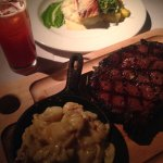 Prime Rib and Salmon dishes