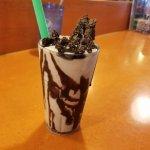 Chocolate Brownie Shake with massive chunks of ral brownie!