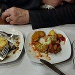 tapas--eggplant and patatas fritas