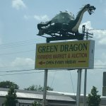 Green Dragon Farmers Market & Auction Sign