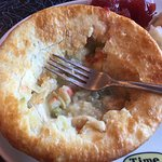 Turkey Pot Pie, with cranberry. The crust is like a croissant