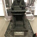 Unique statue of Alan Turing
