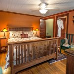 The bedroom of Nutmeg Cottage.
