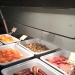 Selection of breakfast buffet offerings.