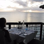 Private Table at Sunset--Sheer Rocks