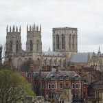 View of York Minster from the city walls opposite the hotel