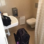 Actual size of bathroom (carryon luggage)