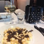 Amazing black truffle gnocchi