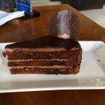 Chocolate cake was dry