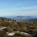 walks along the top of table mountain