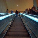 escalator to the hotel
