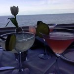 Cocktails and a beautiful ocean view!