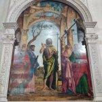 San Juan Bautista entre los santos Pedro, Marcos, Jerónimo y Pablo. Cima da Conegliano