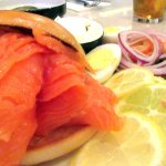 Salmon and Toasted Bagel, Manhatten Deli, Atlantis Casino, Reno, NV