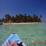 The island from the kayak!