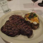 24 oz Porterhouse with loaded potato