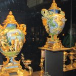 Richly decorated vases