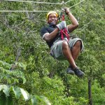Zip-Lining as a part of the Adventure Day Combo
