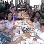 My family group having lunch at Aquarius