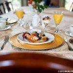 Free breakfast served each morning to guests in the dining room.