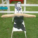 Behr sitting on a cow (or is it a B&W steer?)