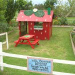 A strawberry house!