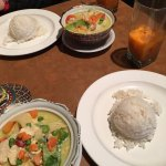 Yellow/Green Curry with Thai Ice Tea