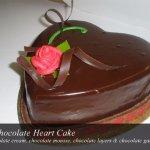 3 Chocolate Heart Cake